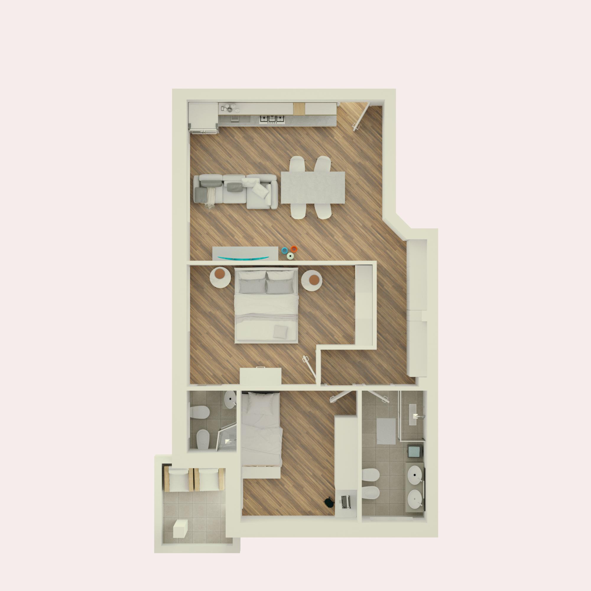 Planimetria 3D Appartamento 2