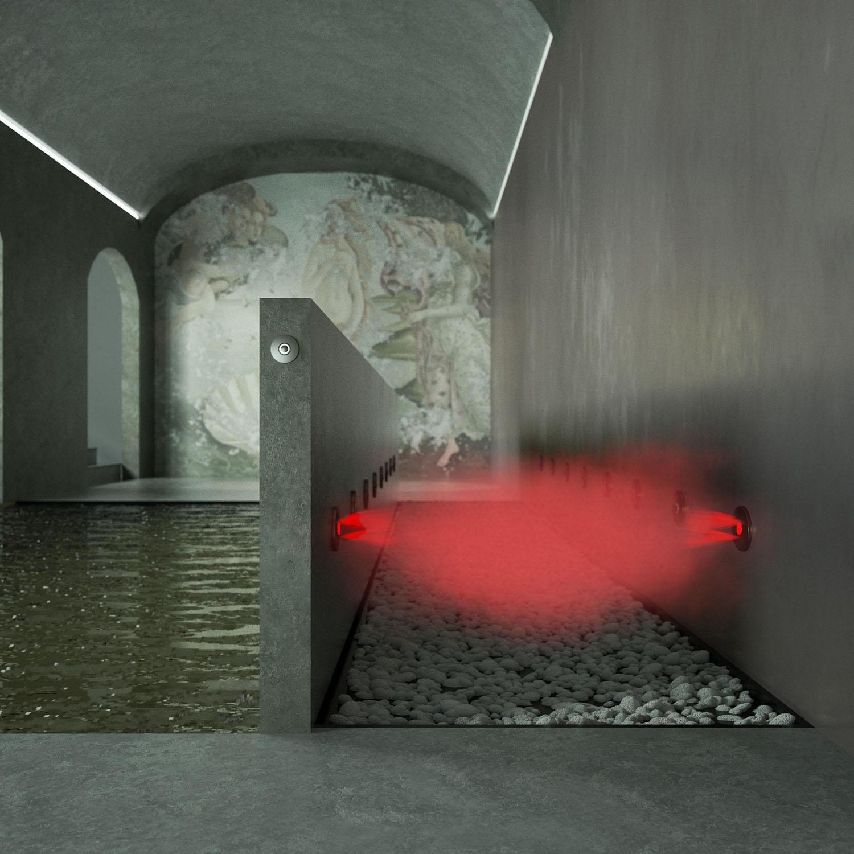 Render 3D Aquademy Percorso Kneipp