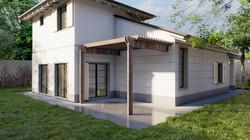 Render 3D Viilla Singola Moderna a Carrara