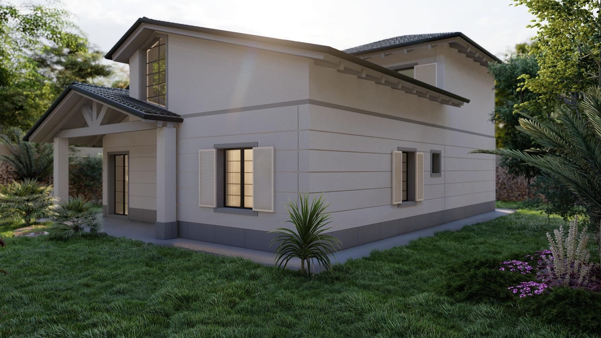 Render 3D Viilla Moderna a Carrara