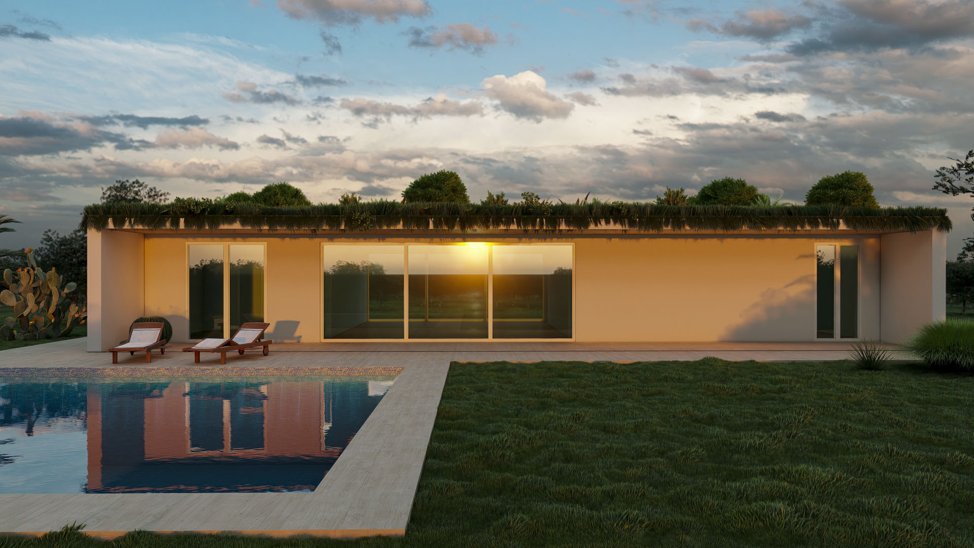 Render 3D Casa Bioclimatica(2)