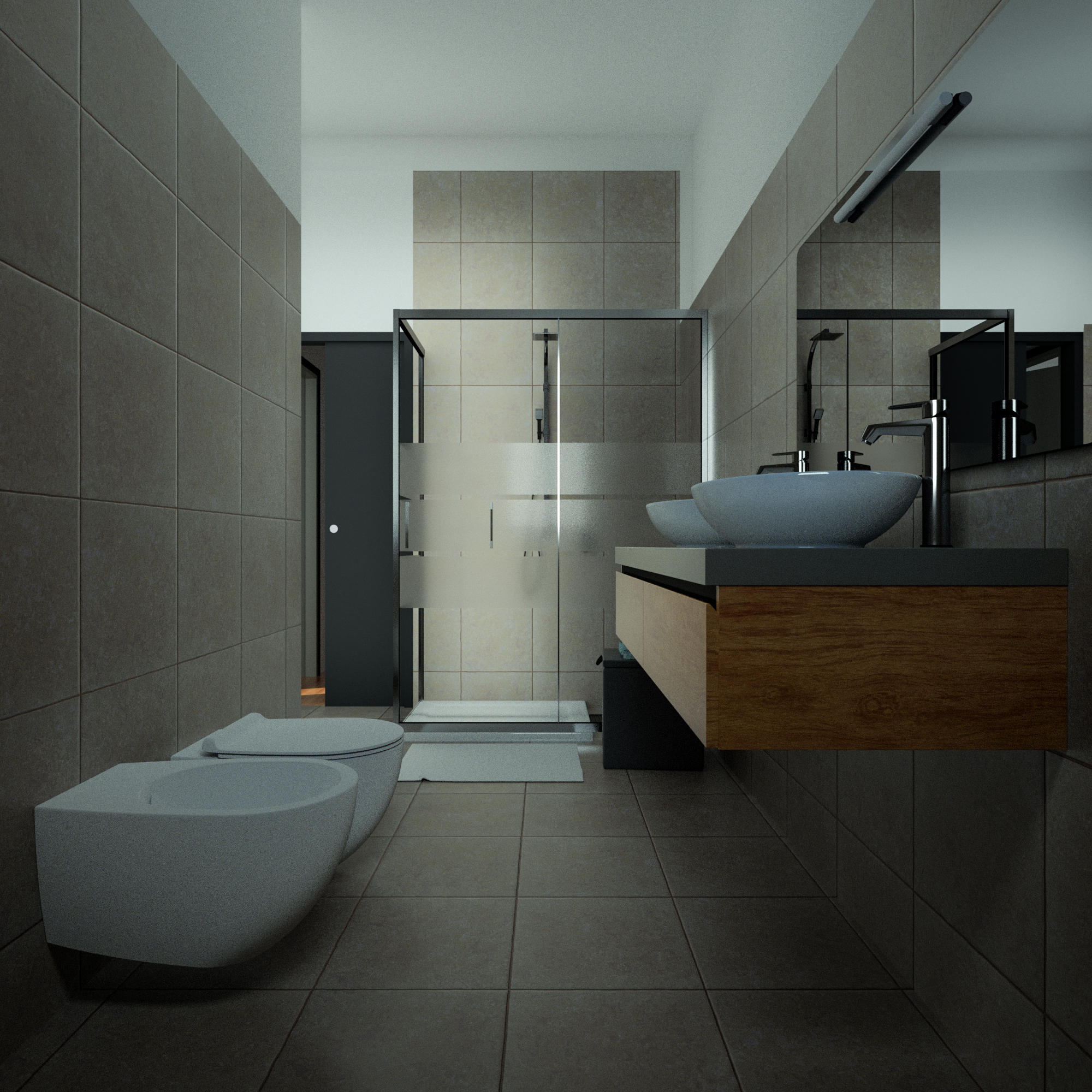 Render 3D Bagno Appartamento 4