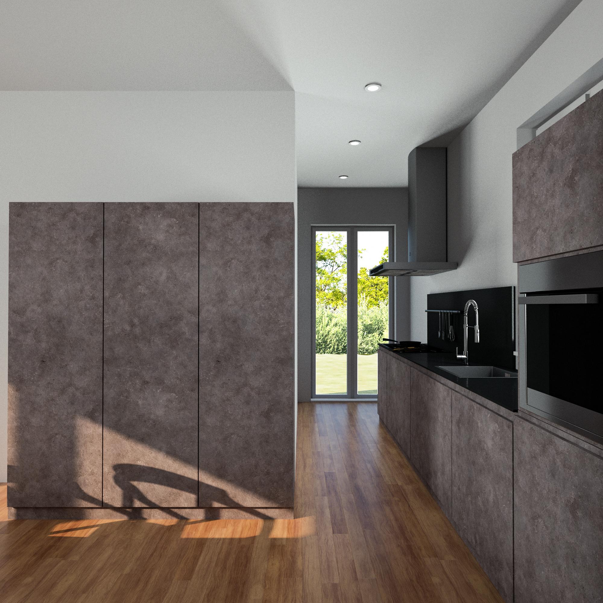 Render 3D Cucina Appartamento 1