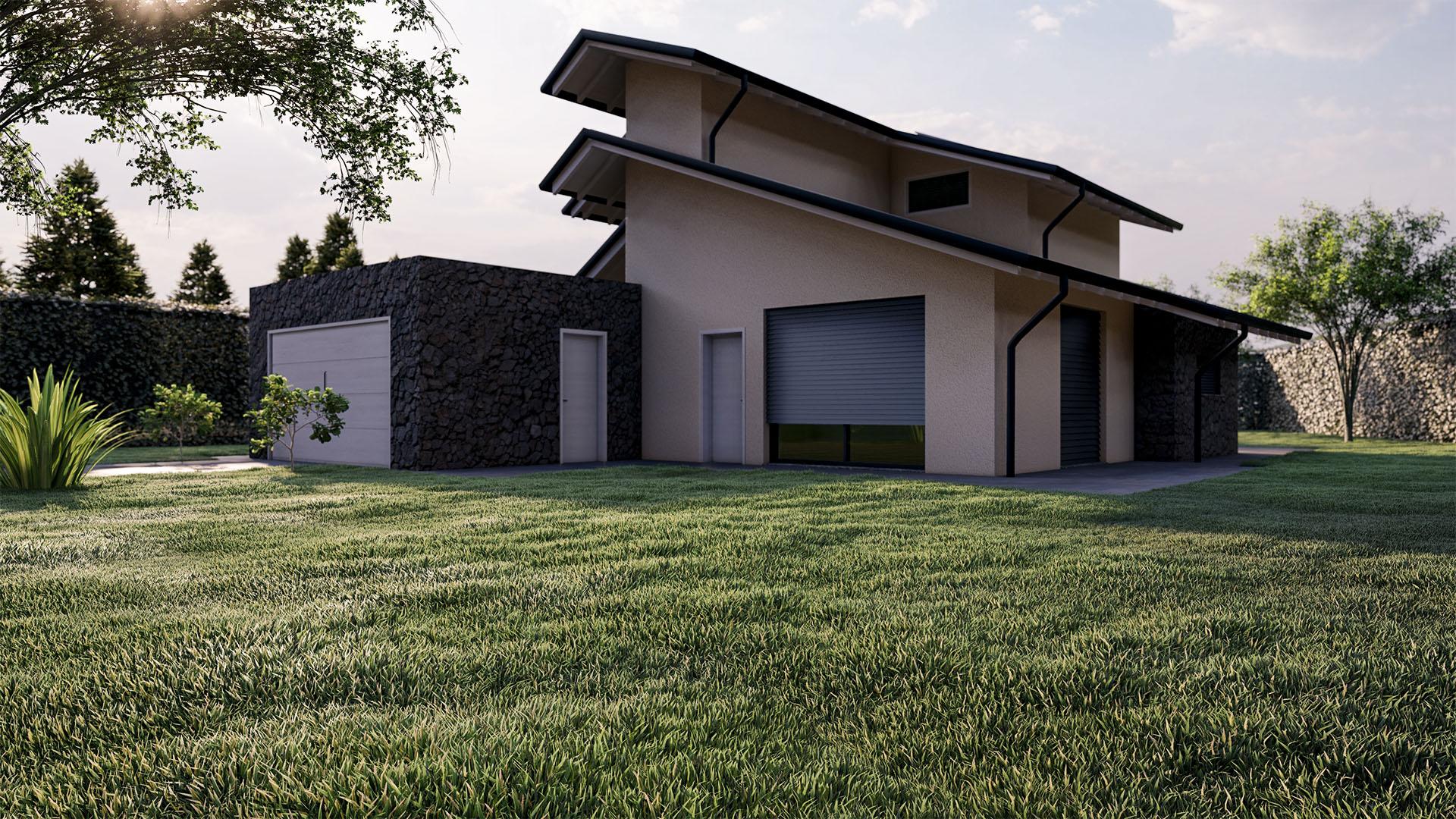 Render 3D Villa Mornago Progetto