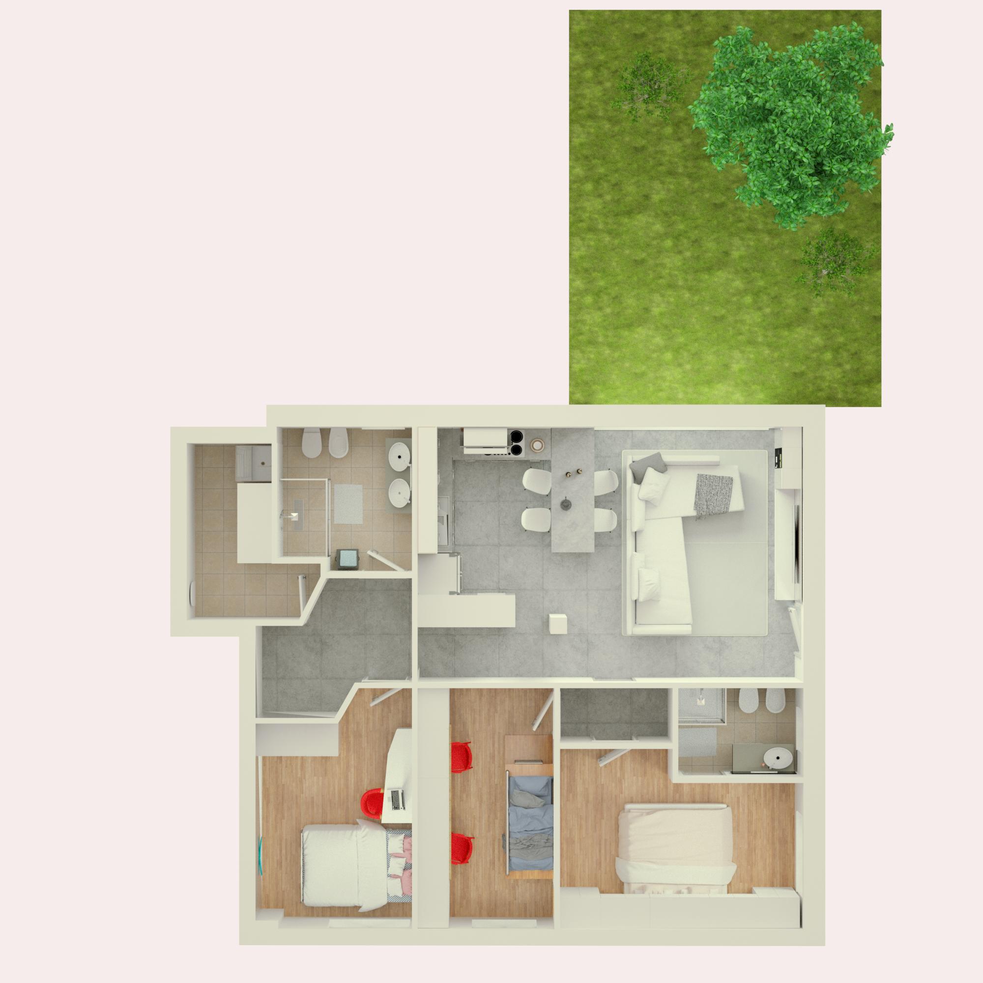 Planimetria 3D Appartamento 3