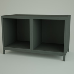 Render 3D Cubi Affiancati - Credenza Ape