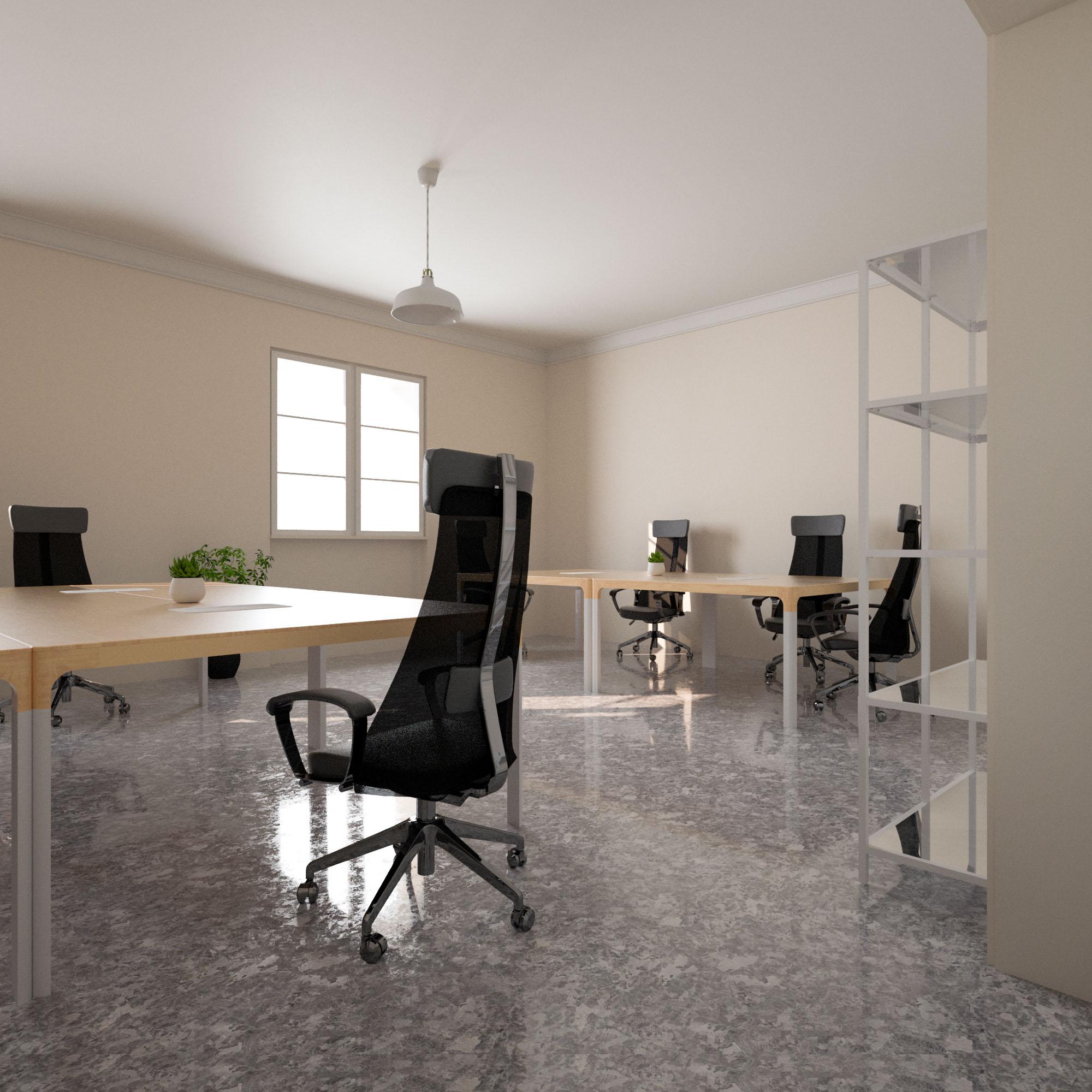Render 3D Ufficio Vista 2