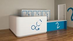 Render 3D Reception Ospedale