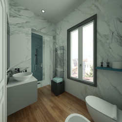 Render 3D Bagno Appartamento