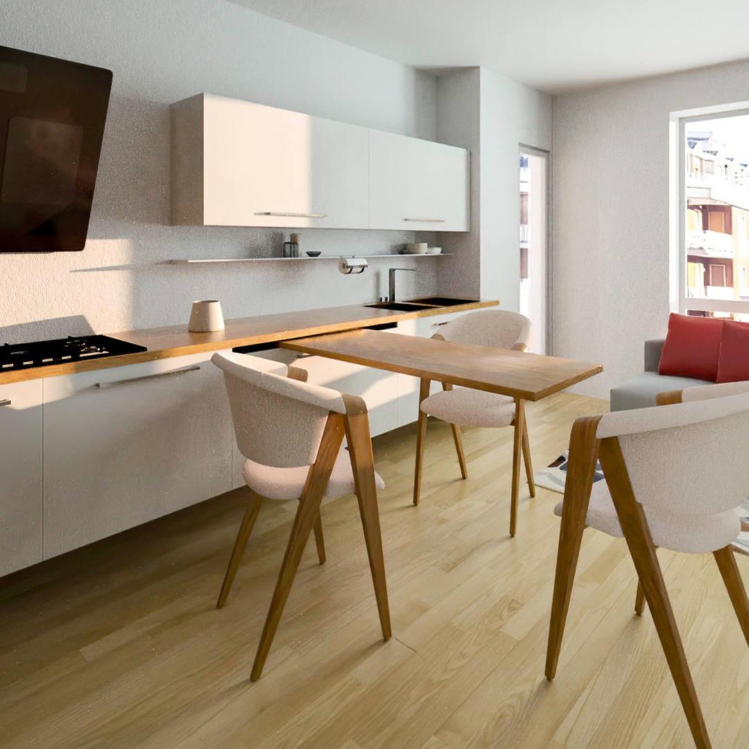 Render 3D Appartamento - Milano