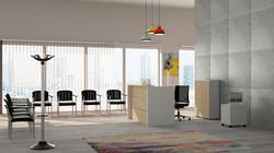 Render 3D Reception Ufficio