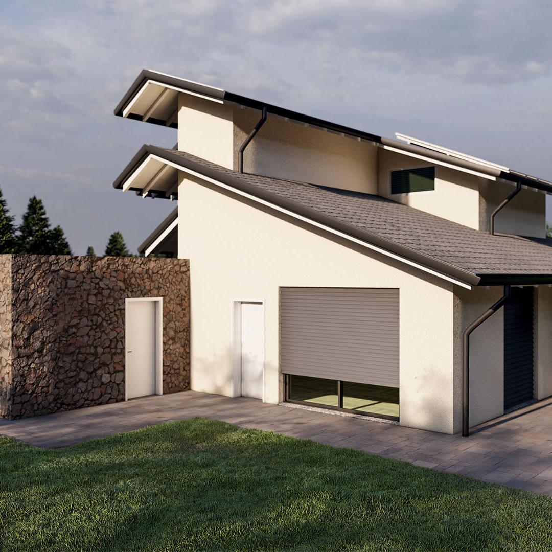 Render 3D Villa Bifamiliare