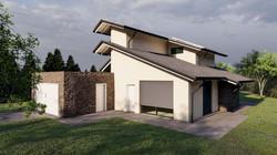 Render 3D Villa Mornago