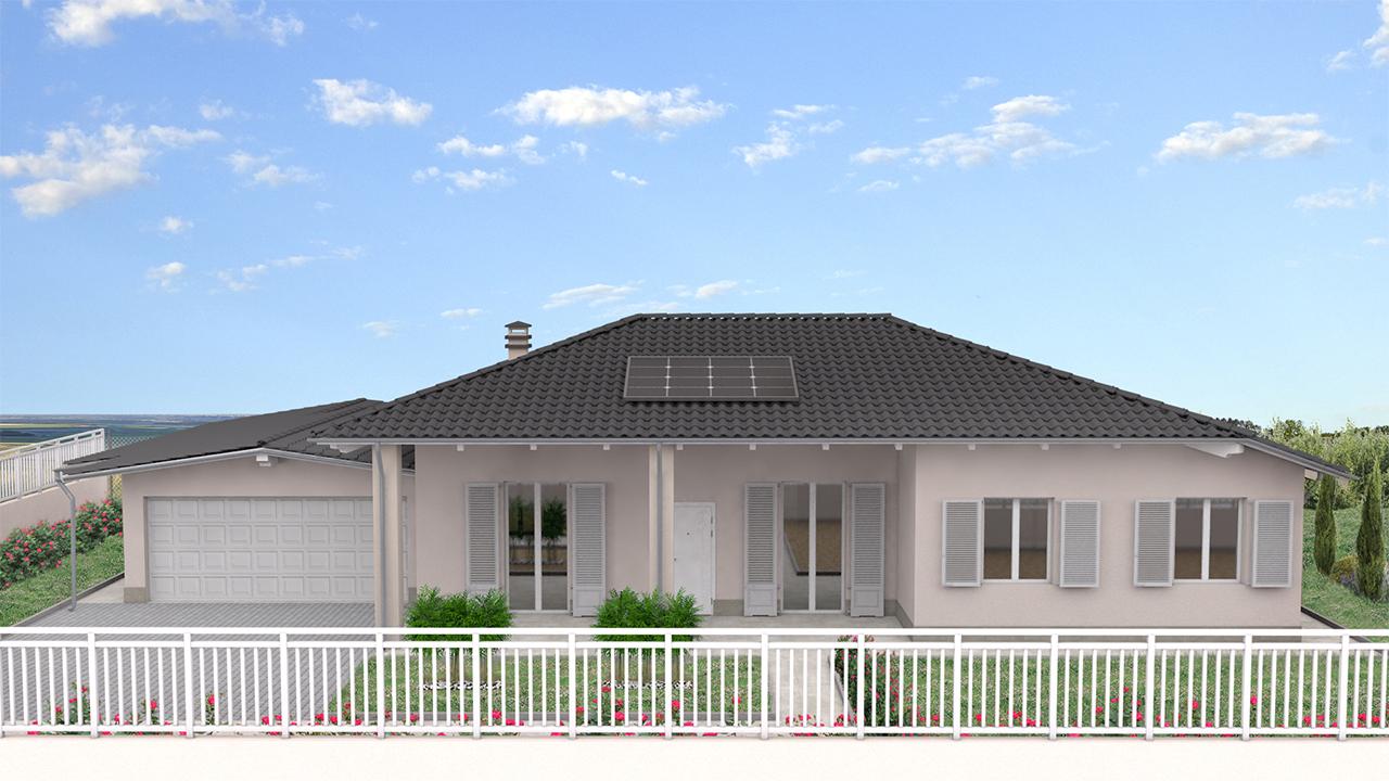 rendering 3d villa