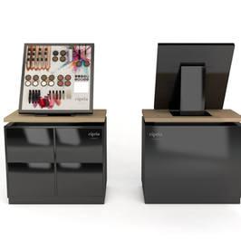 Render 3D Mobile Cosmetici Cipria Milano