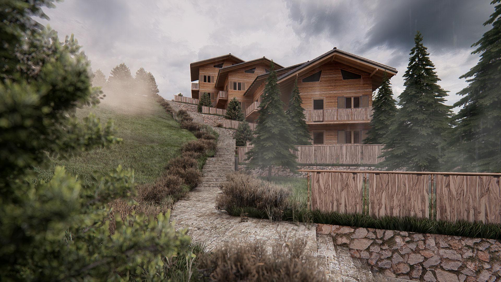 Render-3D-esterno-ville-montagna