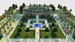 Rendering 3D Piazza Las Angeles