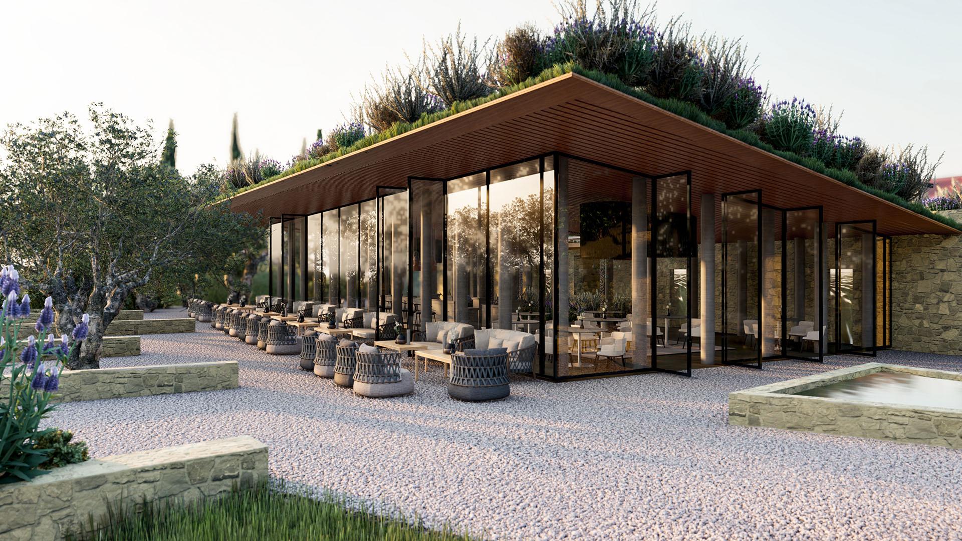 Render 3D Resort - Toscana