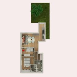 Planimetria 3D Appartamento 4