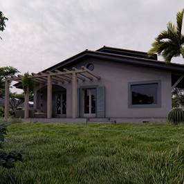 Render 3D Villa Unifamiliare