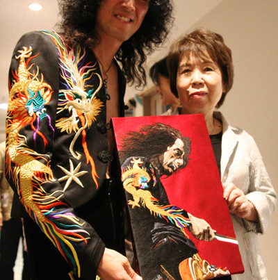 Jimmy Sakurai & Ms.Osawa, National awarded embroidery artist and her works