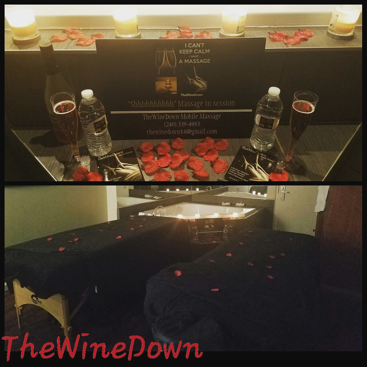 Couple's Massage w/ wine