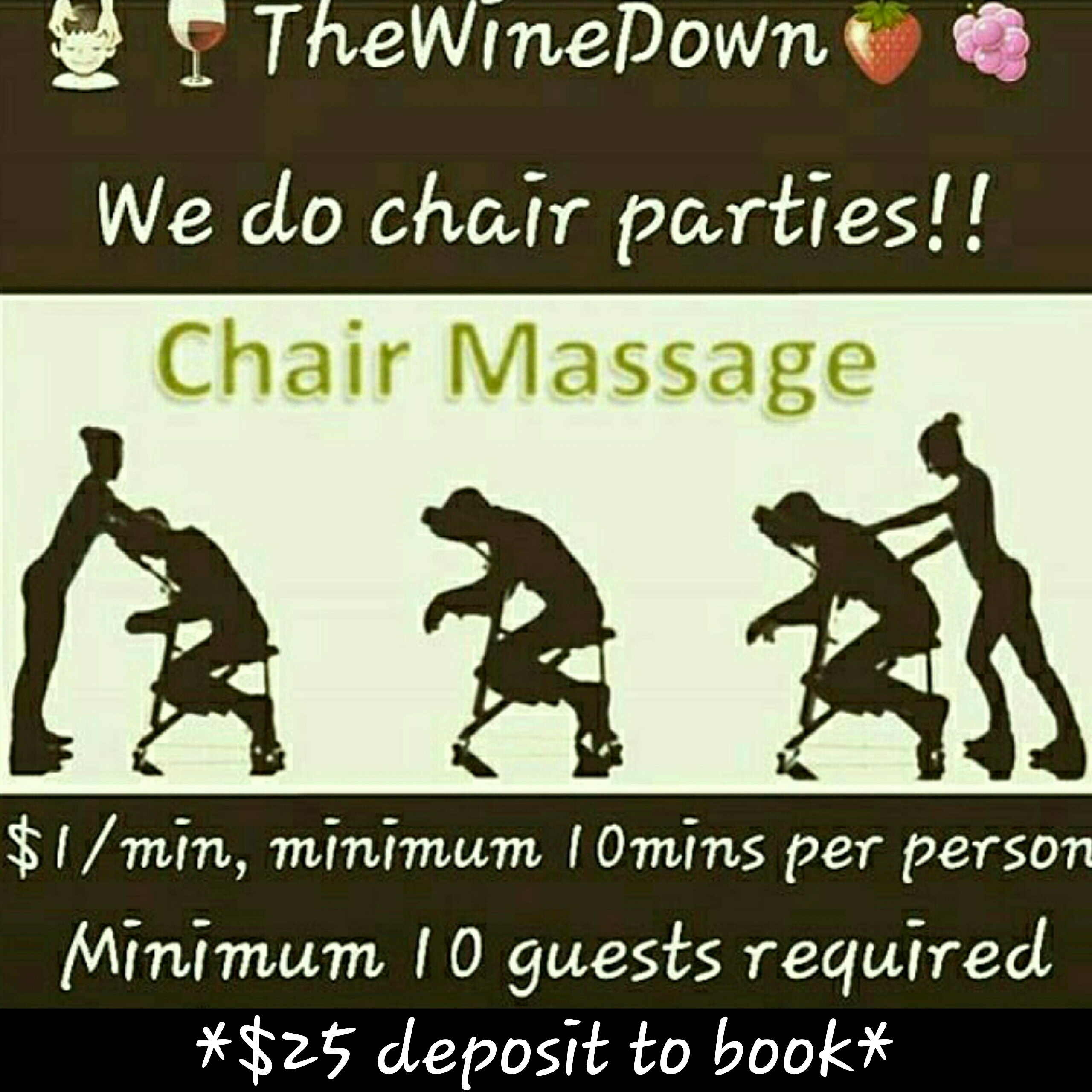 Chair Party Pricing