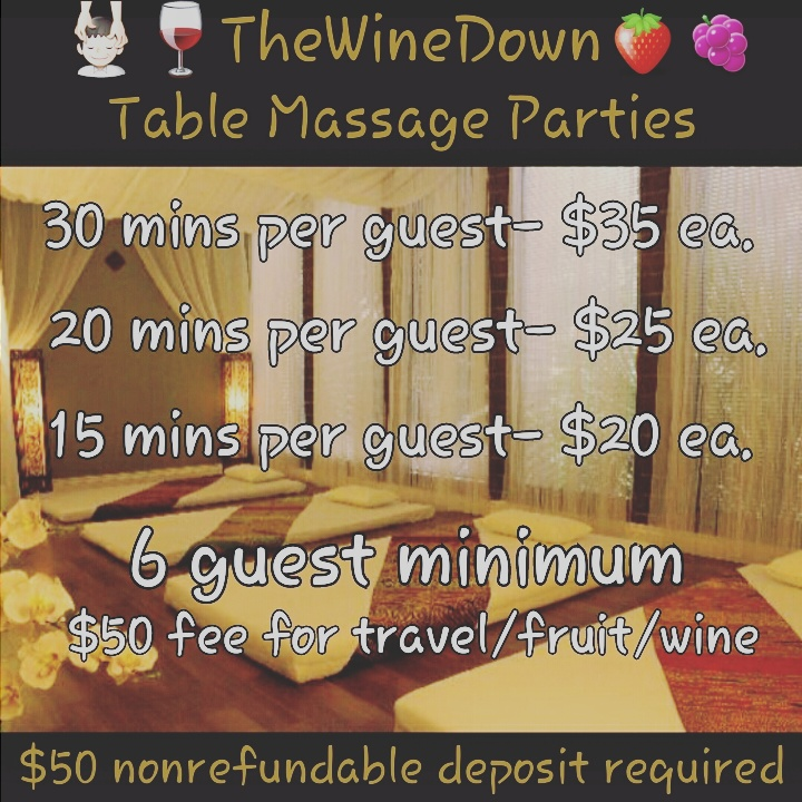 Table Party Pricing