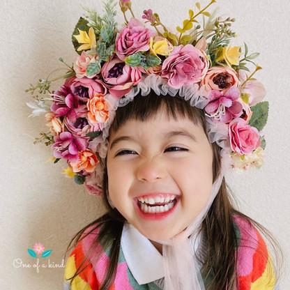 newborn floral bonnet