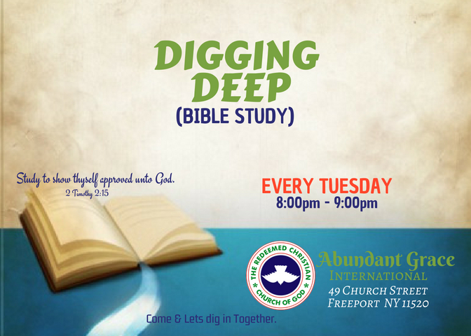 "Bible study: ""Digging Deep"""