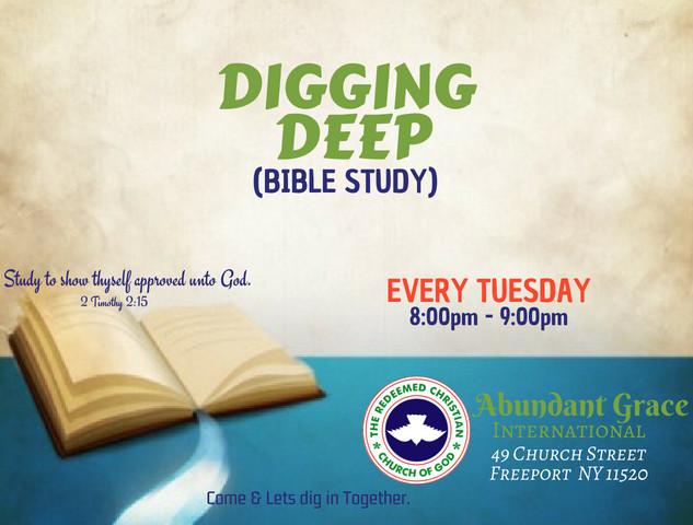 """Bible study: """"Digging Deep"""""""