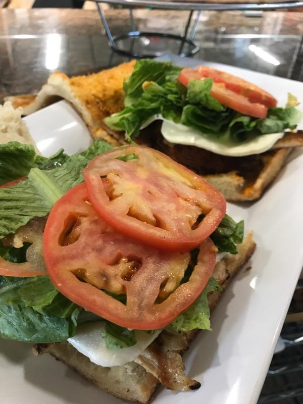 Lettuce, Tomato and Beef Burger
