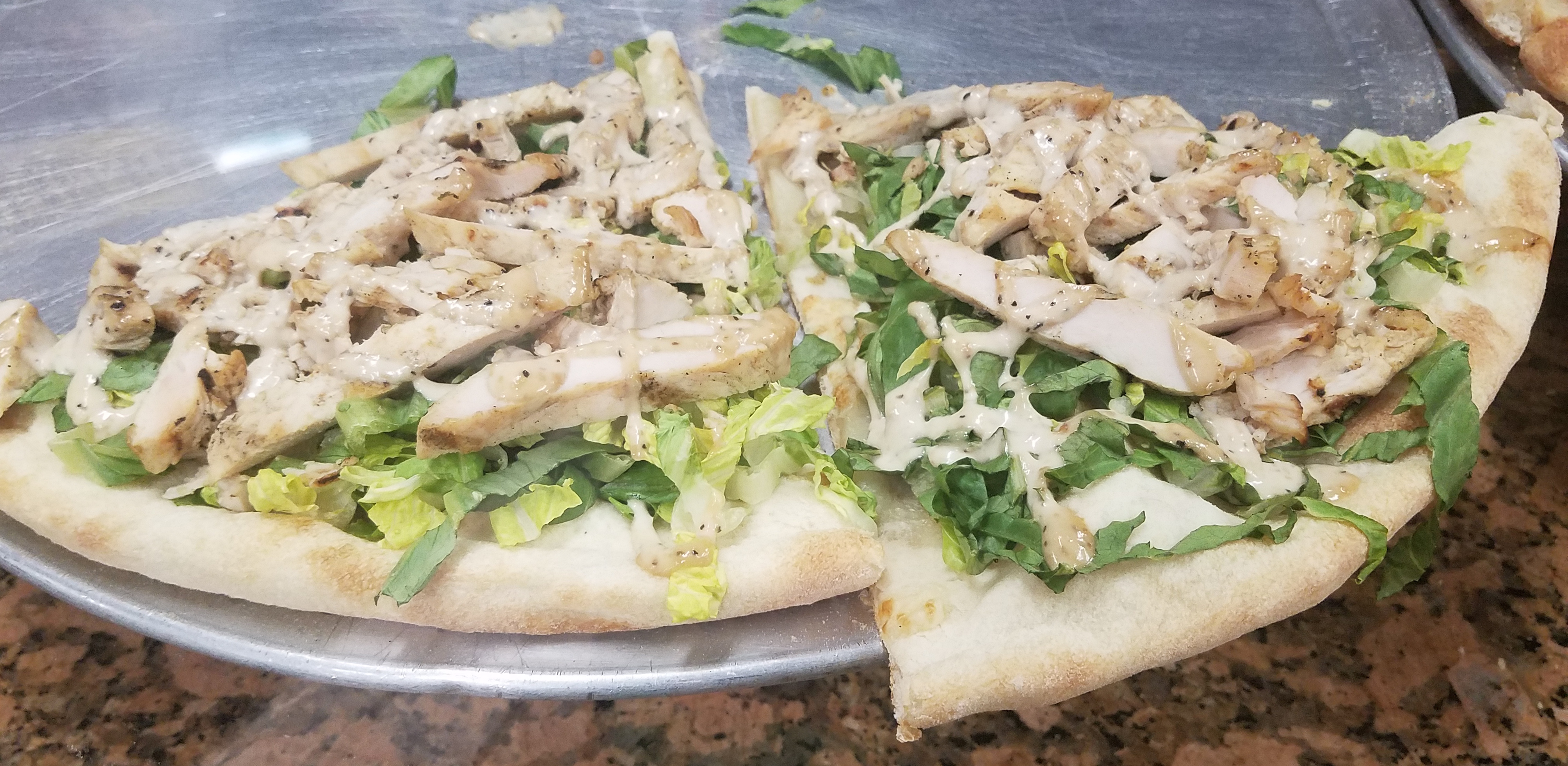 Chicken Pizza, Lettuce Pizza