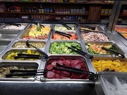 Salads and fresh fruits