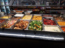 Hot buffet breakfast and lunch