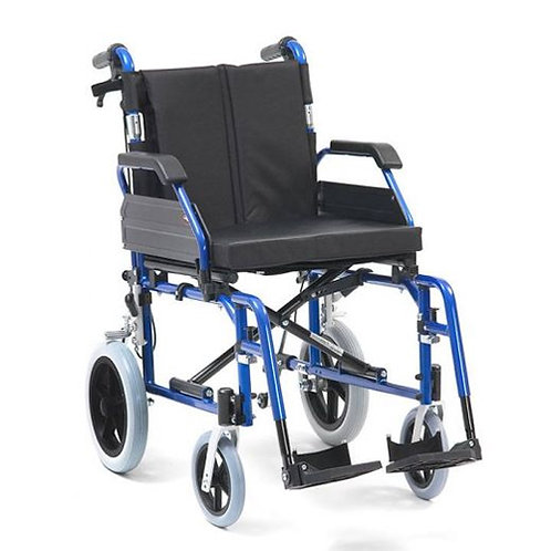 "XS Aluminium Wheelchair Transit 18"" Blue"