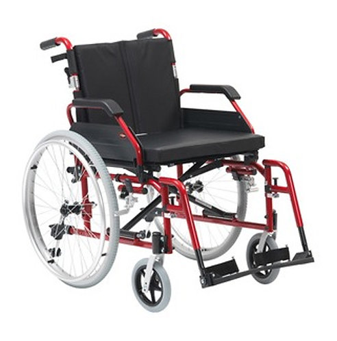 "XS Aluminium Wheelchair Self Propel 20"" Red"