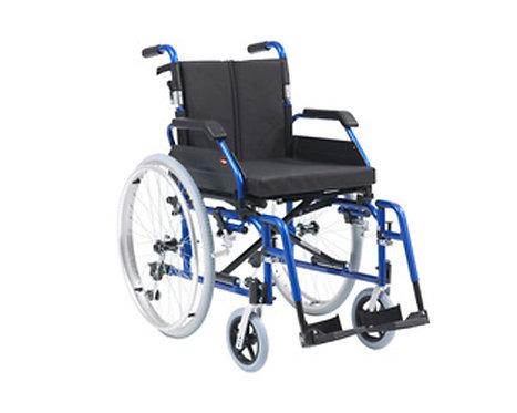 "XS Aluminium Wheelchair Self Propel 18"" Blue"