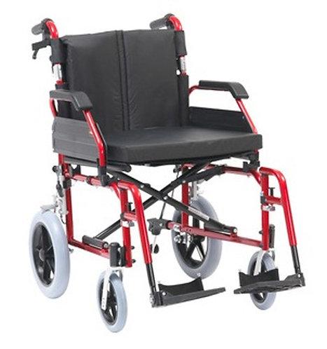 """XS Aluminium Wheelchair Transit 20"""" Red"""