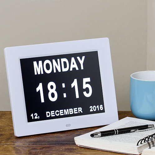 Digital Day of the Week Clock with Date & Time