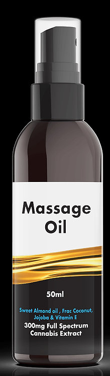 300mg Full Spectrum Massage Oil 100ml Containing 45mg CBD