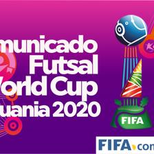 Copa do Mundo de Futsal da FIFA Lituânia 2020 adiado para 2021