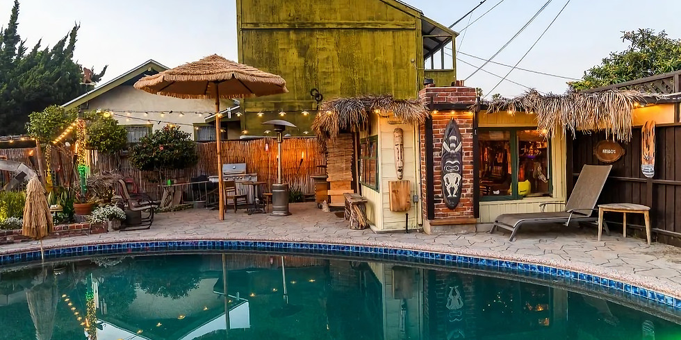 [Sold Out] Black Long Beach Private Tiki Pool Party