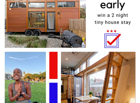 Tiny House.  Big Voter Turnout.