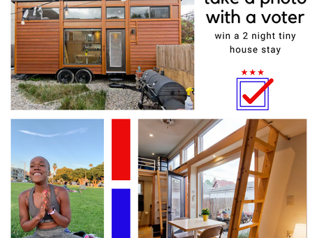 Tiny House.  Big Voter Turnout.
