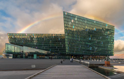 Harpa Building Rainbow