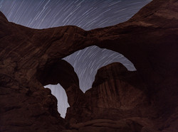 Star Trails over Double Arch, Moab UT 2021