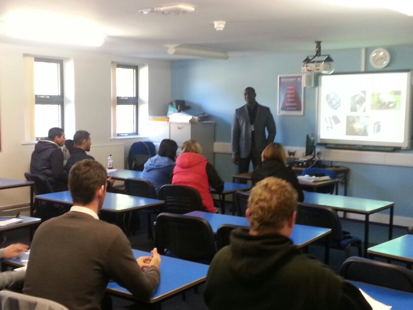 Security lecture at Derby college