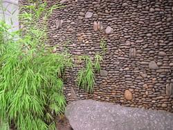 parede de pedregulho
