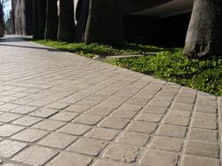calçada marmore travertino